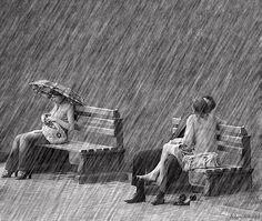 What rain? i-love-rain Kissing In The Rain, Walking In The Rain, Rainy Night, Rainy Days, Its Raining Its Pouring, Lovers Images, I Love Rain, Rain Go Away, Love Park
