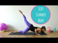 It's not too late to tone sexy sculpted arms for summer. Add this arm routine into your workout schedule to shape beautiful arms fast. Stability Ball Exercises, Pelvic Floor Exercises, Arm Exercises, Live Fit, Workout Schedule, Shoulder Workout, Bikini Workout, Getting Bored, Transformation Body