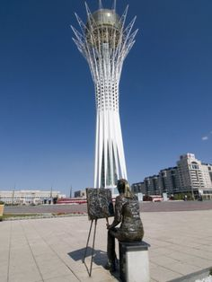 Bayterek Tower, Landmark of Astana, Astana, Kazakhstan, Central Asia
