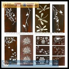 Laser Cut Metal Screen Designs Panel Mdf Cnc Cutting Design