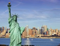 The Statue of Liberty is a #colossal neoclassical sculpture on Liberty Island in #NewYork Harbor in New York City, in the United States.