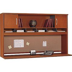 "$315   office   Bush Westfield 72""W 2 Door Hutch, Autumn Cherry"