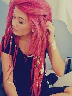 Pink Hair Dye - Dreads #hair