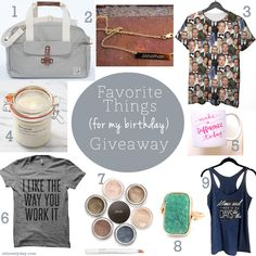 Giving away some of my favorite things as my birthday gift to my lovely readers & followers! win all the things you see here on ohlovelyday.com #giveaway