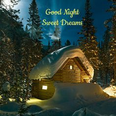 So wish we were cuddled up by the fire in a faraway cabin .to be in our own little world.needing your love ! Good Night Image, Good Morning Good Night, Good Night Cards, Nighty Night, Winter Beauty, Dream Big, Sweet Dreams, Cabin, World