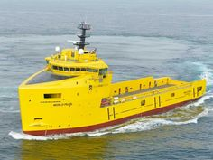 Damen Shipyards Galati, Romania, has handed over the third Platform Supply Vessel in a series of six under construction for World Wide Supply of Norway. #setcom http://www.setcomcorp.com/workboat-headset-intercom.html