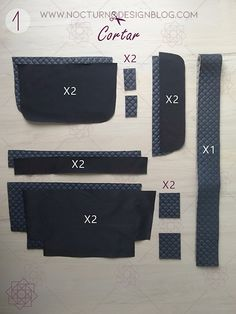 Easy sewing step by step. Diy Sewing Projects, Sewing Tutorials, Leather Bag Pattern, Waist Pouch, Design Blog, Sewing Patterns Free, Handmade Bags, Small Bags, Leather Wallet