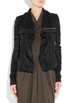 Rick Owens|Textured-leather biker jacket|NET-A-PORTER.COM