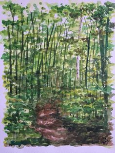 In to the woods by Charlotte Hamilton #blueshineart