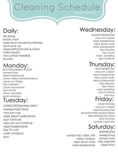 Spring Cleaning Schedule. Is it more efficient to organize cleaning by task or by room?