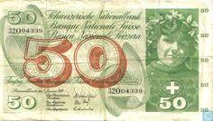 Bankbiljetten - Schweizerische Nationalbank - Zwitserland 50 Franken 1970