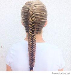 Beautiful french fishtail braid