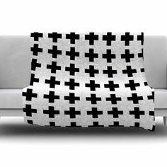 Swedish Cross by Suzanne Carter Fleece Blanket