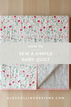 Quilting 101, Quilting For Beginners, Machine Quilting, Quilting Projects, Modern Baby Quilts, Baby Quilts To Make, Easy Quilts, Baby Quilt Tutorials, Baby Quilt Patterns