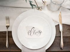 Cartes calligraphiées / Calligraphy place cards