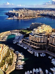 View from Portomaso Tower in St Julians Malta on a December day in 2013.   Photo is by Martin Petterson