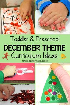 Looking for hands-on preschool December themes? This resource is filled with ideas and free printables to help you plan the entire month. Can be adapted for toddlers, too! Christmas Activities For Toddlers, Science For Toddlers, Lesson Plans For Toddlers, Preschool Christmas, Toddler Christmas, Preschool Winter, Winter Activities, Preschool Themes, Toddler Preschool