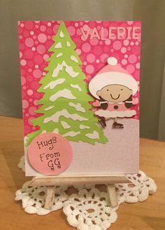 Girls Hello Card / Made with Cricut Christmas and Jolly Holidays Cartridges / Handcrafted By Cindy Babich (Cindyswishestogive 2016)