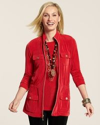 Travelers Red Utility Jacket - Chico's