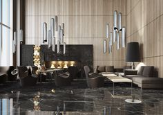 Lobby #inspirations #designinspiration #moderninteriordesign decorate, interior design, luxury design . See more inspirations at www.luxxu.net
