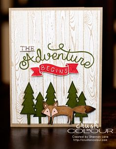 Crush On Colour: The Adventure Beings... Sneek Peek, Occasions 2015!  (Stampin' Up Occasions Catalog 2015, Adventure Awaits and Life In The Forest)