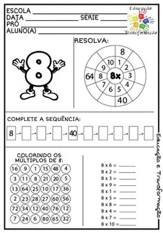 Math Worksheets, Preschool Activities, Nativity Coloring Pages, Montessori Math, Teaching French, Math For Kids, Teaching Math, Third Grade, Projects For Kids