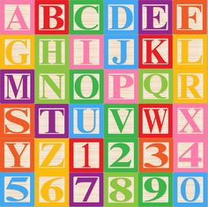 Baby Blocks Alphabet Font Clip Art Clipart - Commercial and Personal by PinkPueblo on Etsy Block Letter Fonts, Alphabet Blocks, Block Lettering, Alphabet Letters, Doodle Alphabet, Alphabet For Kids, Toy Story Party, Toy Story Birthday, Imprimibles Toy Story