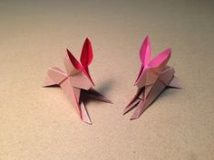 How to make an Origami Rabbit - YouTube
