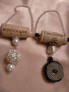 Diamonds Are Forever Wine Bottle Pendant Set by TheBeadedCork, $20.00