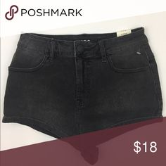 BDG Urban Outfitters Super High Rise Jean Shorts Urban Outfitters BDG 'Super High Rise Short Short' in a washed out black. Available in 27,28 and 29. All new with tag.  See my other listings for more sizes and styles. Inside label has been marked to deter bogus store returns. Urban Outfitters Shorts Jean Shorts