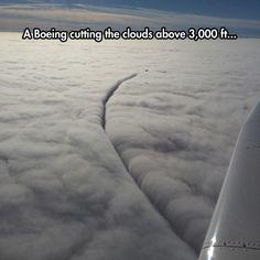 Cutting Clouds In The Sky