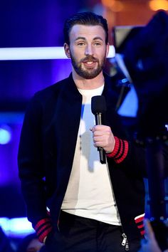 Actor Chris Evans onstage during the 2016 MTV Movie Awards at Warner Bros Studios on April 9 2016 in Burbank California MTV Movie Awards airs April...