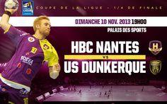 Handball HBCNantes reçoit USDK Dunkerque. Le dimanche 10 novembre 2013 à Nantes.  19H00