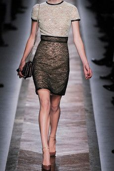 Valentino Dress. Leather Trimmed & Lace