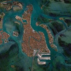 Venice, Italy is situated upon 118 small islands that are separated by canals and linked by bridges. With tide waters expected to rise to perilous levels in the coming decades, the city has constructed 78 giant steel gates across the three inlets through which water from the Adriatic could surge into Venice's lagoon. Taken from Daily Overview.