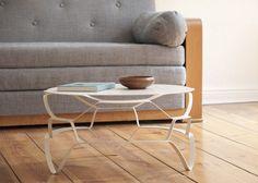Love this stretched steel coffee table. //via #designmilk