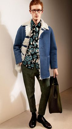 Sueded Shearling Coat | Burberry