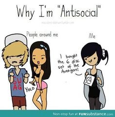 Why I'm anti-social (aka I belong to fandoms lol)
