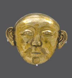 Gold Mask , Liao Dynasty , China , 9-10th century. #Mask