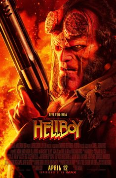"""Title:Hellboy Director:Neil MarshallWriters:Andrew Cosby (screenplay by), Mike Mignola (based on the Dark Horse Comic Book """"Hellboy"""" created by) Stars:David Harbour, Ian McShane, Milla Jovovich Genres:Action Movies 2019, Hd Movies, Movies Online, Movie Tv, Movies And Tv Shows, Movie Cast, Iconic Movies, Milla Jovovich, Resident Evil"""