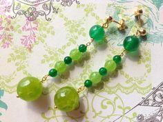 Green jade and peridot earrings silver 925 Made in di Sofiasbijoux, €24.90