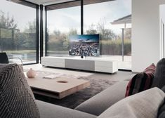 Homes Office Ikea Hacks Hgtv Smart Home 2018 Code: 5976495214 Media Furniture, Smart Furniture, Furniture Ideas, Tv Wall Decor, Tv Cabinets, Tv Unit, Smart Home, Smart Tv, Living Room Interior