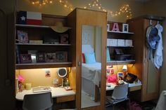 My desk and built-ins in Ole Miss Crosby Corner dorm room