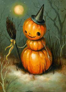 Retro Halloween, Halloween Chat Noir, Halloween Kunst, Halloween Imagem, Image Halloween, Vintage Halloween Images, Vintage Halloween Decorations, Halloween Painting, Halloween Prints