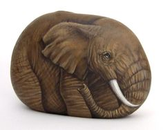 rock painting elephants - Google Search
