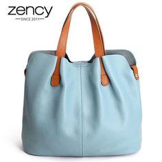 2016 Summer Women Handbag Genuine Leather Tote Shoulder Bag Bucket Ladies Purse Casual Shopping Bag Satchel Capacity Tote Bolsos