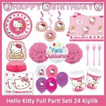 Hello Kitty Full Parti Seti (24 Kişilik)