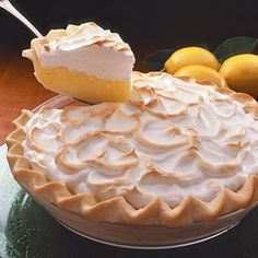 Creamy Lemon Meringue Pie - traditional, delicious!  Gosh, I could eat the WHOLE pie...ummmmmmmm