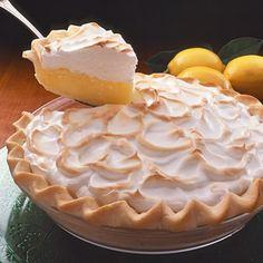 Creamy Lemon Meringue Pie - traditional, delicious!  Gosh, I could eat the WHOLE pie...ummmmmmmm
