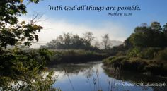 Fine Art Photograph With God all things are by TheHeartLeaf, $34.00